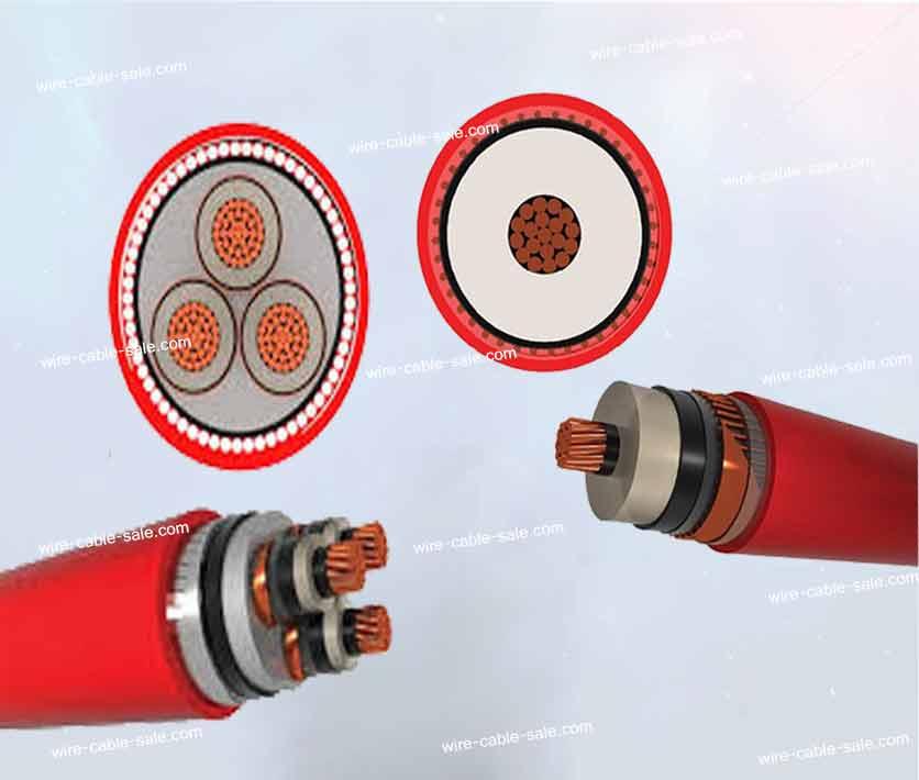 کابل فشار قدرت 20 کیلو ولت تک رشته و سه رشته